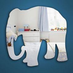 Childrens Mirrors - Elephant Mirror - Safe Acrylic from Mungai
