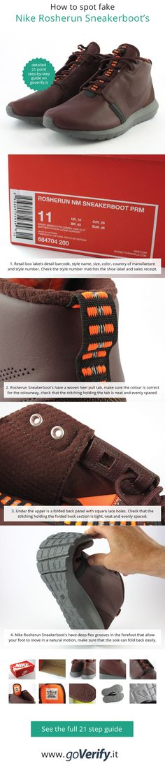 How to spot fake Nike Rosherun Sneakerboot's, go to www.it for a full 21  point step-by-step guide.