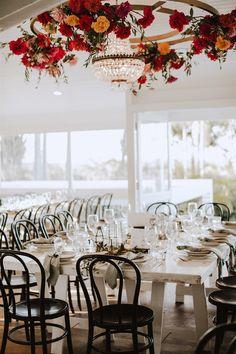 Tree Restaurant, Byron Bay Weddings, Hanging Flowers, Fig Tree, Crystal Chandeliers, Real Weddings, Wedding Venues, Floral Design, Wedding Inspiration