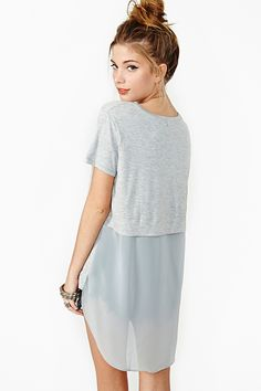 Float On Tee in Gray