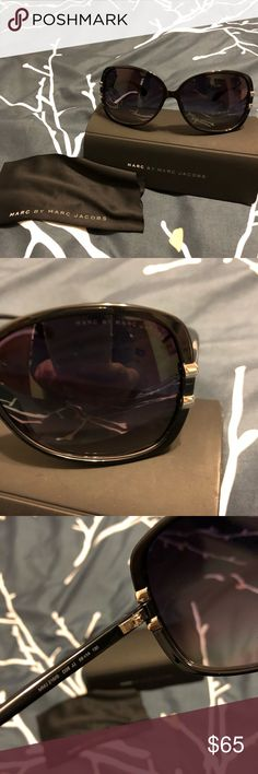 Marc By Marc Jacobs Sunglasses MMJ 216/S Purchased around 2014. Thought that I lost them in a move, found them while moving again, actually never got to wear them.   No tags but all markings on glasses for authenticity. Please see photos. All seen in photos come with. Thanks! Marc Jacobs Accessories Sunglasses