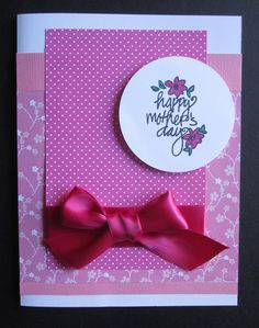 "Handmade ""Happy Mother's Day"" Card by Anything Scrappy www.anythingscrappy.com"