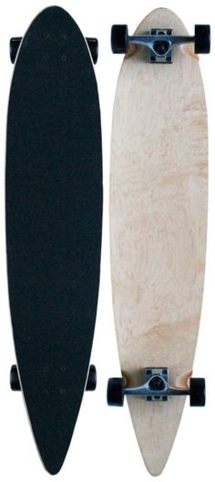 Natural PINTAIL LONGBOARD Skateboard COMPLETE 9 in x 43 in