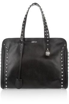 Studded leather tote by Alexander McQueen