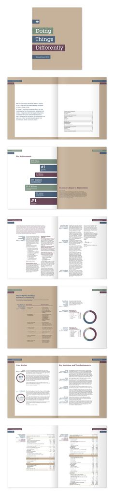 Annual Report by Ven Klement, via Behance