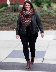 You can't go wrong with burgundy and a leather jacket!