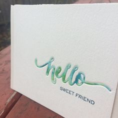 Hello Sweet Friend Card
