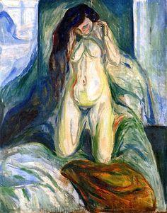 Edvard Munch Kneeling Nude Oil Painting Reproductions for sale Figure Painting, Painting & Drawing, Amedeo Modigliani, Oil Painting Reproductions, Vintage Artwork, Matisse, Erotic Art, Figurative Art, Oeuvre D'art