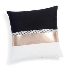 Fodera di cuscino nera/dorata in cotone 40 x 40 cm MADISON
