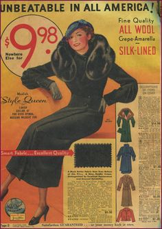 This #catalogsunday I have all coats from 1935 CMO. #newvintagelady