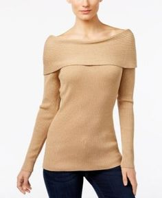 Inc International Concepts Boat-Neck Sweater, Only at Macy's - Gold XL