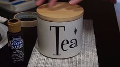Take a plain canister and turn it into a Tea canister using stencil 4093-8 Tea from istencils. http://istencils.com/new-stencil-designs/4093-8-tea.html