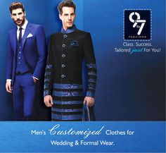 Men's Customized Clothes for Wedding & Formal Wear. #wedding #sherwani #menswear #mumbai #chembur visit us http://www.9to7fashions.com/ Call: 8080 927 927
