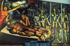 David Alfaro Siqueiros - The Torment of Cuauhtemoc (1950)
