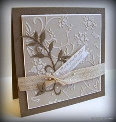Shabby Pearls Gone Wild - Thanks by Boss - Cards and Paper Crafts at Splitcoaststampers