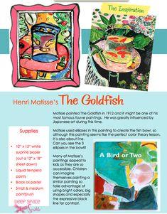 Matisse-Goldfish-art-lesson