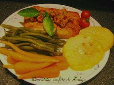 Pavé de saumon au beurre de tomate et de Basilic