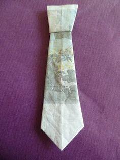 Marly Design: geld stropdas vouwen / fold money tie