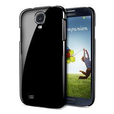 Amazon.com: SPIGEN SGP Samsung Galaxy S4 Case Slim [Ultra Thin Air] [Soul Black] Hard Case Protection Cover + Front Screen…