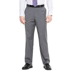Axist Straight-Fit Solid No-Iron Performance Flat-Front Dress Pants  groomsmen