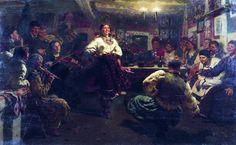 Вечорници. 1881. Илья Ефимович Репин