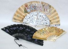 "Regency fans: a fabulous accessory, a cooling instrument, and a communication device. Slowly fanning yourself: ""I don't care about you""; Tapping fan: ""I'm impatient.""; closing fan quickly: ""I'm jealous."" Fan to heart: ""My love for you is breaking my heart"" etc."