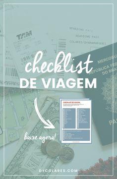 Checklist de viagem para te ajudar a organizar sua viagem e não deixar você esquecer nada.
