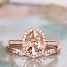 Excited to share the latest addition to my shop: Morganite Engagement Ring Set Rose Gold Wedding Ring Diamond Halo Half Eternity Stacking Bridal Ring Oval Cut Women Gift for Her Wedding Rings Rose Gold, Bridal Rings, Gold Wedding, Gifts For Women, Gifts For Her, Morganite Engagement, Engagement Rings, Halo Diamond, Heart Ring