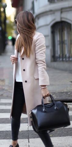 #winter #fashion / beige coat