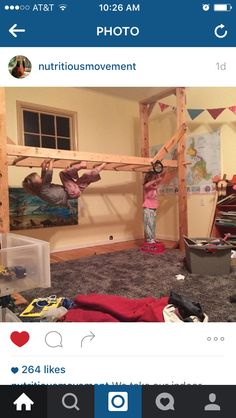 Adjustable monkey bars! From Katy Bowman's Nutritious Movement
