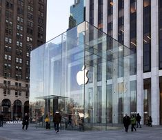 The Apple Store: a techie pilgrimage  On Fifth Avenue, this is Apple's flagship store. The Louvre-like structure was opened in 2006 and hailed as a model for innovative design. But it came at a cost; Apple recently spent an estimated $6.6 million renovating the glass cube.    Location: New York City, New York, USA