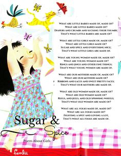 What are Little Girls Made of?  Sugar and Spice, of course! Download our printable.