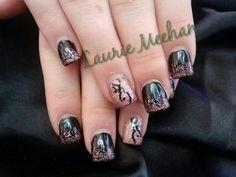 Browning gel polish nails
