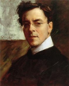 """""""Portrait of Louis Betts"""" -- by  William Merritt Chase (American, 1849–1916)"""