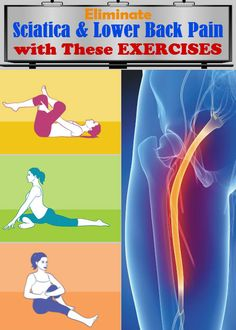 How To Eliminate Sciatica And Lower Back Pain With These 6 Exercises… They Really Work!