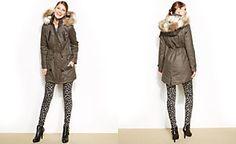 Laundry by Shelli Segal Faux-Fur-Trim Hooded Anorak Coat