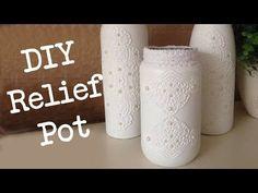 Diy Pot met Kanten Relief, Thuis decoratie voor ieder budget!