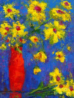 Whispers Of Joy - Modern Impressionist Art - Palette Knife Work for your home decor. Floral wall decor.