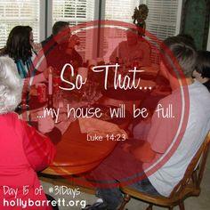 Day 15: My house will be full | Holly Barrett