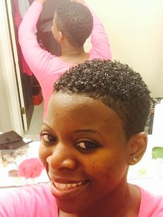 Nice S Curl Hairstyle For Ladies Short Black Natural Hairstyles, Natural Hair Short Cuts, Short Afro Hairstyles, Tapered Natural Hair, Short Sassy Hair, How To Curl Short Hair, Natural Hair Styles For Black Women, Curled Hairstyles, Short Hair Cuts