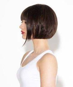 How To Do A Bob With Undercut Best Picture For undercut bob tattoo For Your Taste You are looking fo Bobbed Hairstyles With Fringe, Bob Hairstyles For Thick, Short Bob Haircuts, Trendy Hairstyles, Short Angled Bobs, Short Bobs With Bangs, Short Hair With Layers, Short Hair Styles, Pixie Haircut For Thick Hair