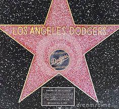 Los Angeles Dodgers Star On Hollywood Walk Of Fame Editorial Photo - Image of pavement, boulevard: 36380086 Let's Go Dodgers, Dodgers Nation, Dodgers Girl, Dodgers Party, Baseball Boys, Dodgers Baseball, Better Baseball, Baseball Stuff, America's Favorite Pastime