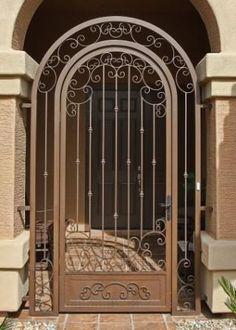 Home Depot Decorative Screen Doors Custom Made Wrought Iron Screen And Security Doors Home