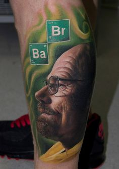Walter White by Victor Chil at Family Art Tattoo in Barcelona, Spain Links…