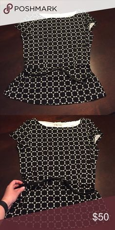 Belted top Brand new top with attached belt White House Black Market Tops