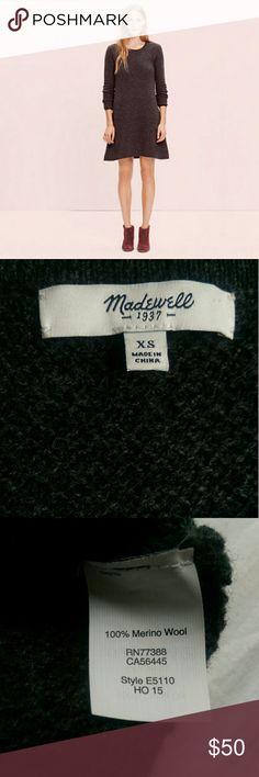 Madewell Walkway Sweater Dress 100% merino wool, like new condition. Charcoal gray, fits TTS. Madewell Dresses