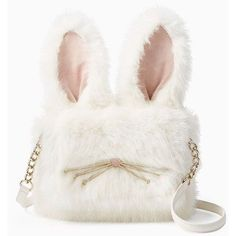 Kate Spade Make Magic Rabbit Shoulder Bag ($398) ❤ liked on Polyvore featuring bags, handbags, shoulder bags, white shoulder handbags, fancy handbags, kate spade purses, shoulder strap handbags and shoulder hand bags