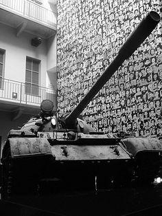 https://flic.kr/p/uCPMmx | Hungary 2008 - House of Terror (Budapest) - Tank | Pictures by Björn Roose. Magyarország/Hungary, 2008.