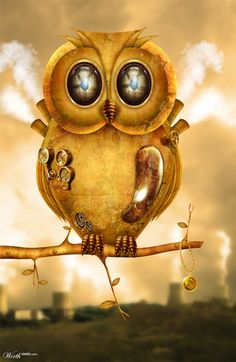 Owl Steampunk by Renanciio