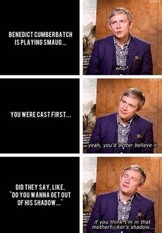 Martin Freeman is adorable! Swearing in an interview. That was a stupid question to ask to be fair. Good thing then that Martin and Benedict actually do get along!